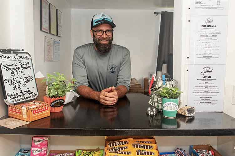 owner of Northside Grind coffee shop deli and marketplace