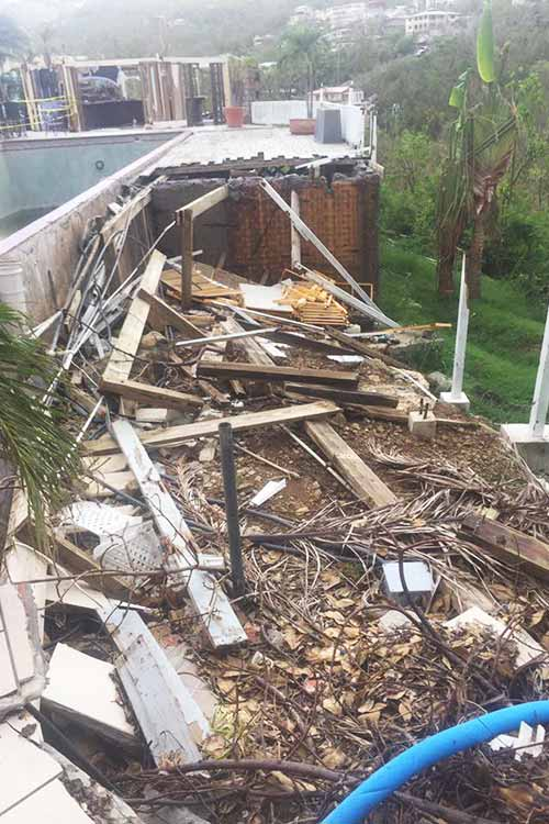 complete collapse of pool deck IrMaria 2017