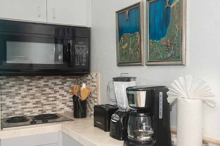 kitchenette and new appliances