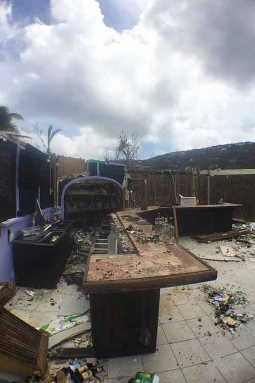 roof and all walls destroyed at restaurant at Flamboyan on the bay following IrMaria 2017