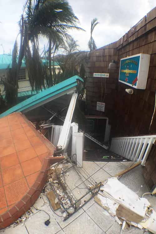 roof collapse above vat gaming room IrMaria 2017