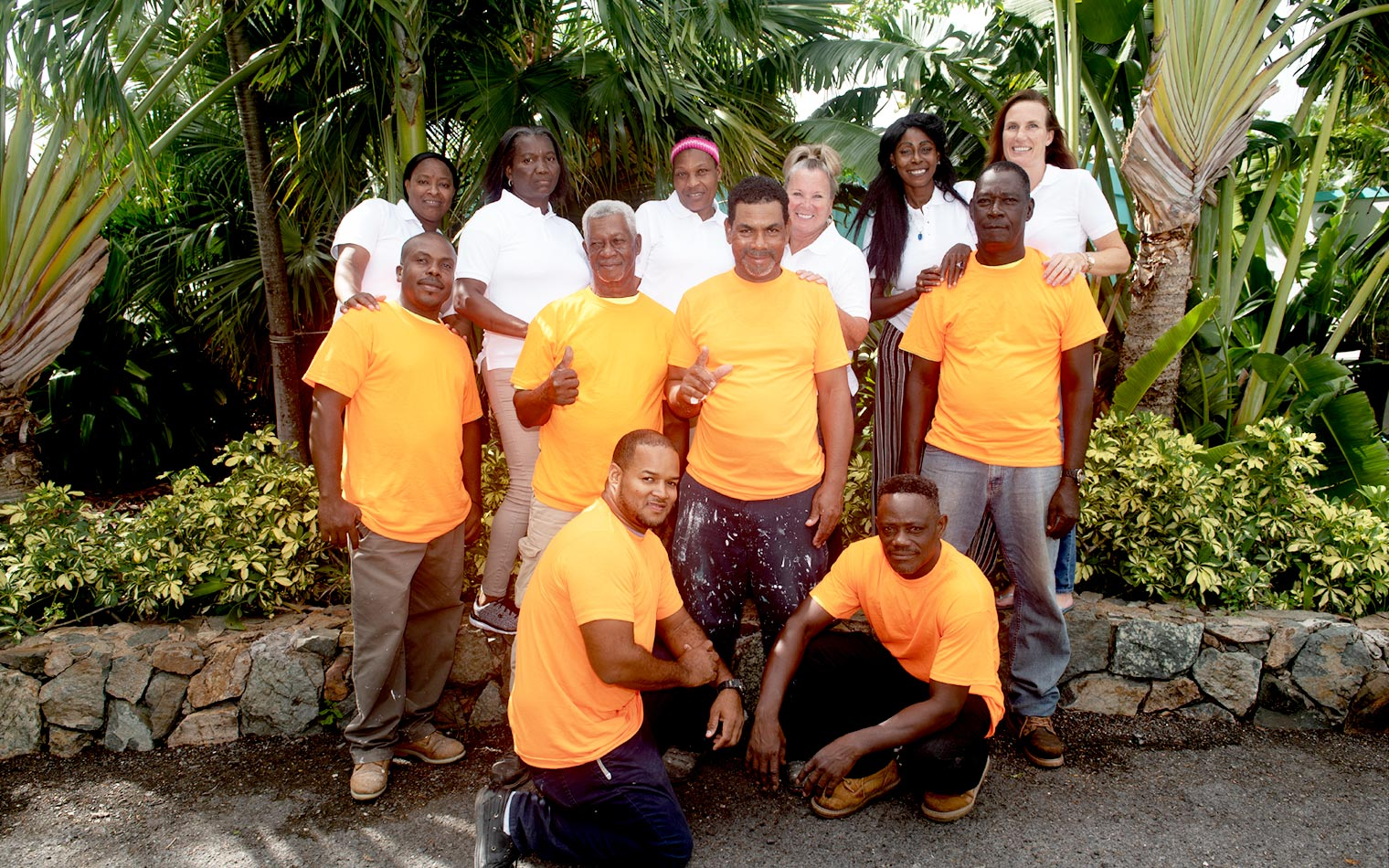 The housekeeping, groundskeeping, maintenance, and office staff at Flamboyan on the Bay