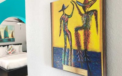 BVI – USVI Friendship Day Art Displayed in Flamboyan Guestrooms