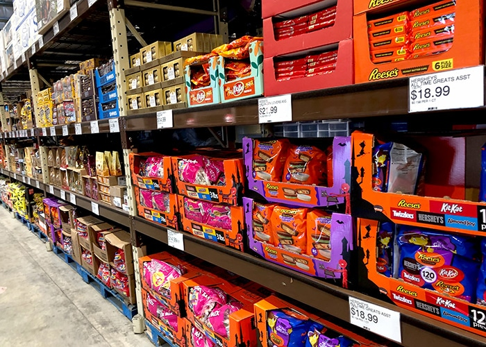 candy aisle in cost u less in st thomas usvi