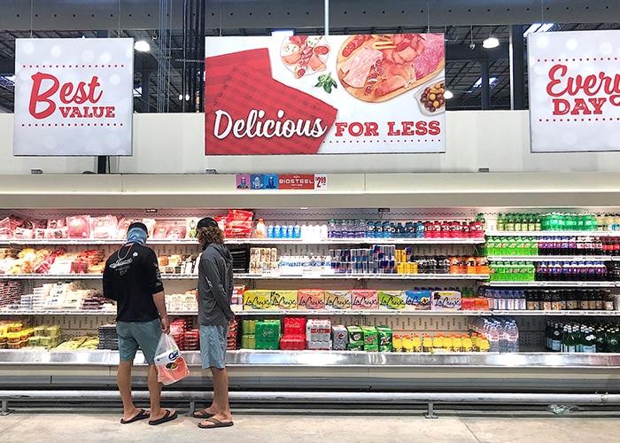 cheese and soda aisle at cost u less in st thomas usvi