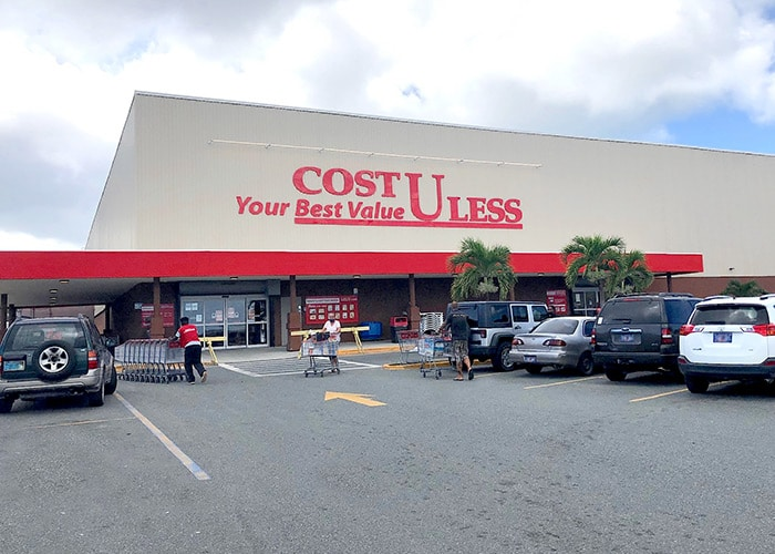 the exterior of cost u less in st thomas usvi.