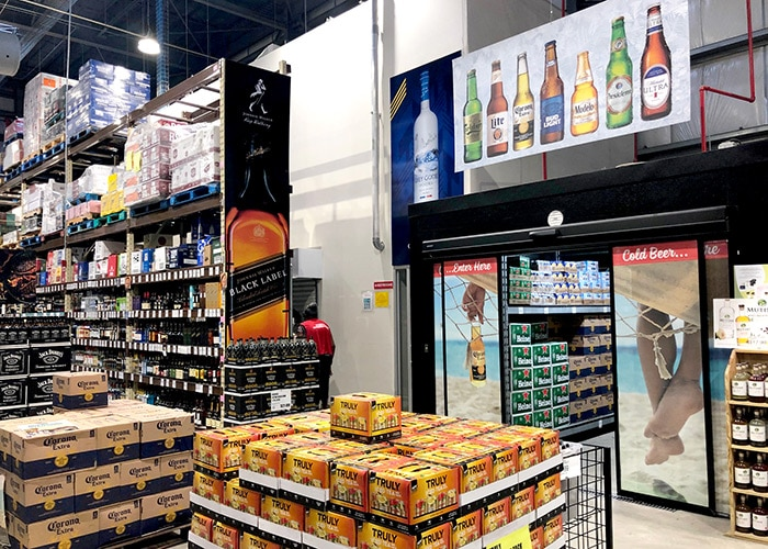 liquor and beer aisle at cost u less in st thomas usvi