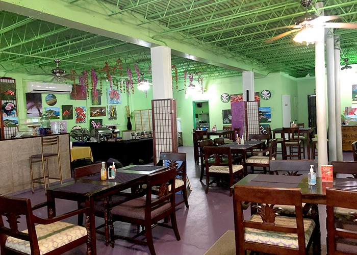 the inside seating at e's teahouse
